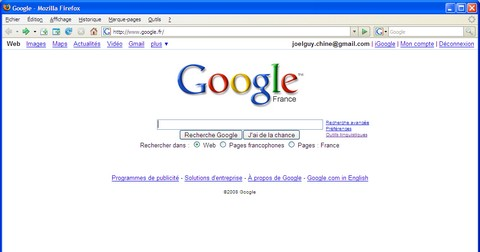 Couleurs Eternite sur Google